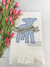 Worthy is the Lamb tea towel