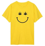 Weed Plant Smiley face  Unisex T Shirt (More Colors Available)