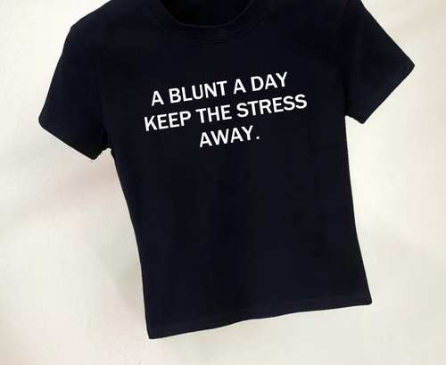 A Blunt A Day Fitted Crop Top (2 Colors Available)