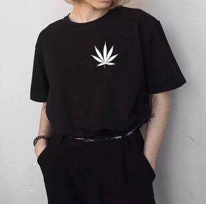 Ganja Leaf Tee ( More Colors Available)