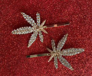 Weed Leaf Hair Pin