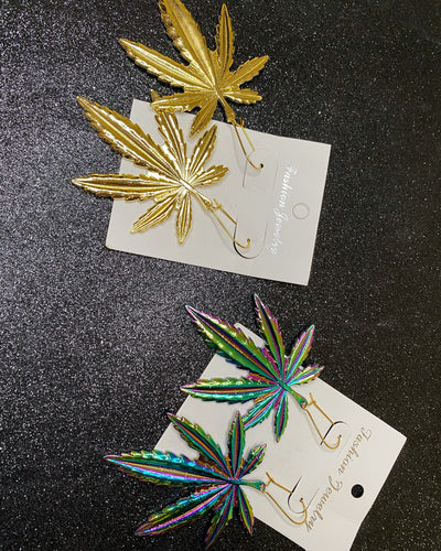Ganja Leaf Earrings