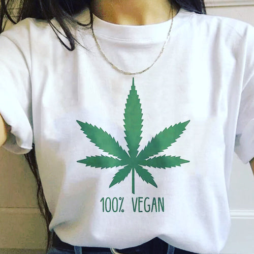 100% Vegan Weed Leaf