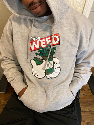Enjoy Weed Cotton Hoodie — Men