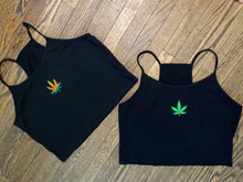 Weed Leaf Spaghetti String Top (Plus Size)
