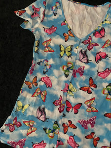Blue Dream Butterfly Print Onesie