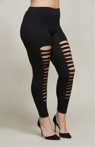 Distress Leggings Plus Size