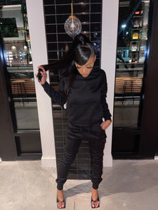 Cozy n Warm Sweats (Black )