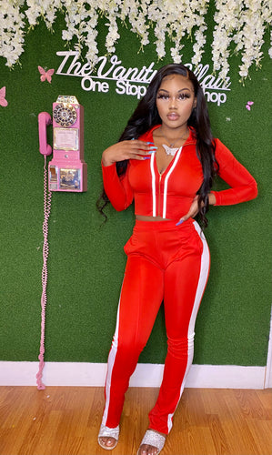 Red VA Doll Track Suit