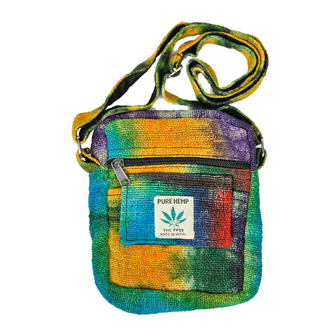 Rainbow Hemp Small Crossbody Bag