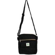 Black Hemp Crossbody Bag
