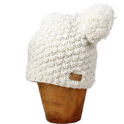 White Koda Double Pom-Pom Hat