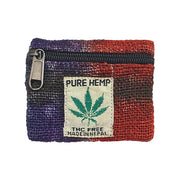 Rainbow Hemp Coin Purse