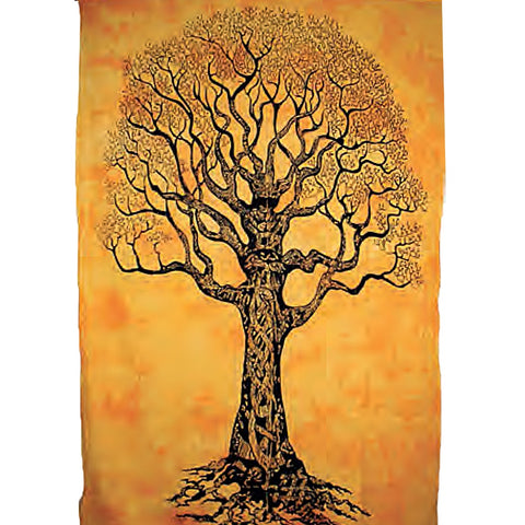 Solitary Tree Indian Bed Sheet