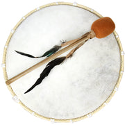 Dot Painted Ceremonial Hoop Drum