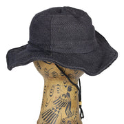 Black Jute Wire Rim Hat