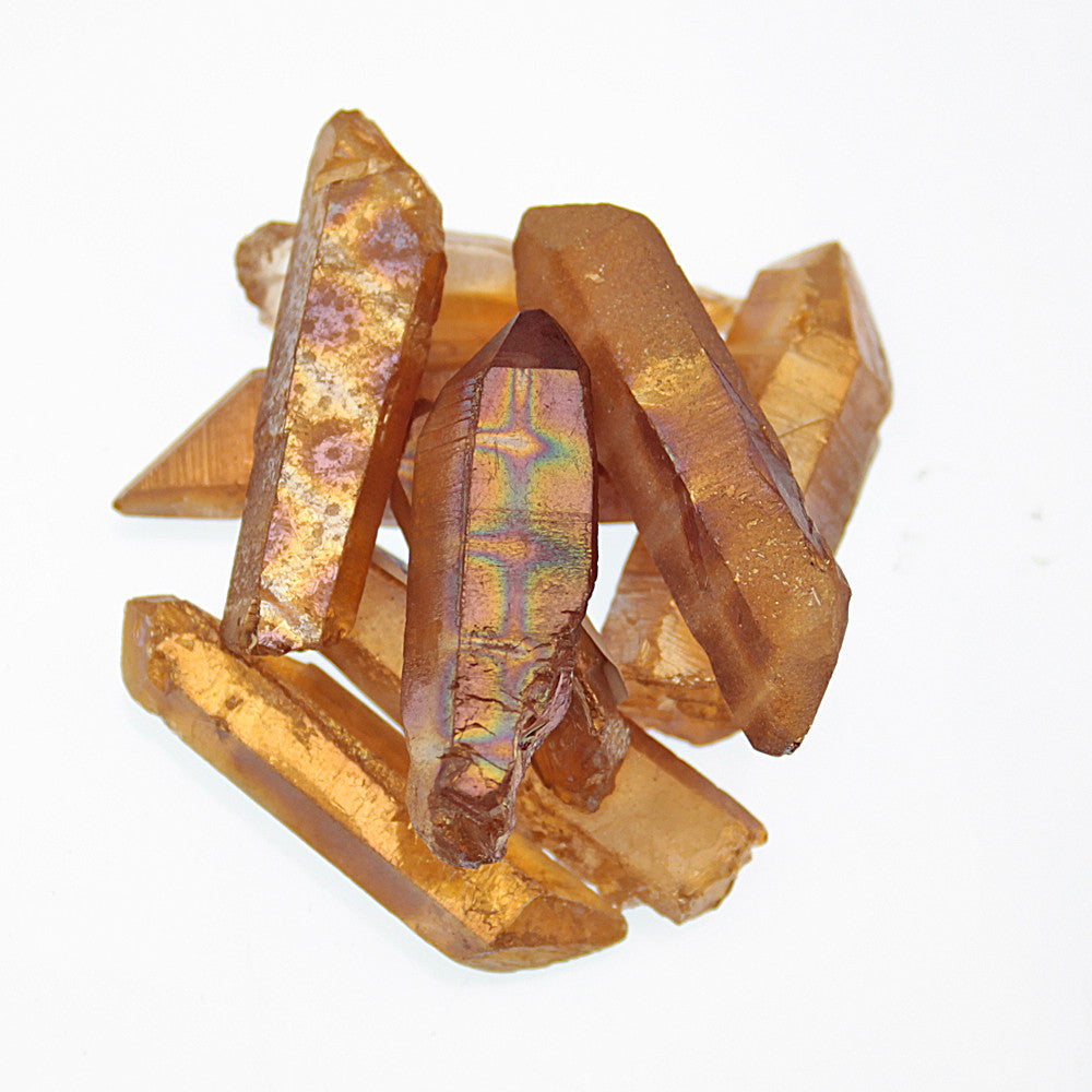 Tangerine Aura Quartz Point