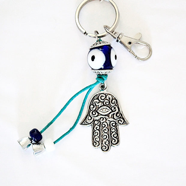 Evil Eye Protection & Fatima Hand Keychain