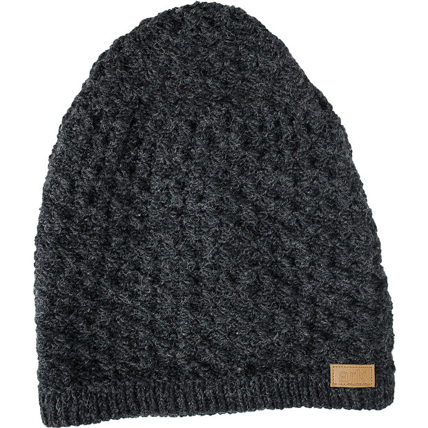 Charcoal Honeycomb Slouch Hat