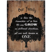 Our Family Like the Branches of a Tree Wood Sign