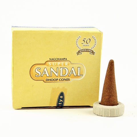 Satya Super Sandal Incense Cones
