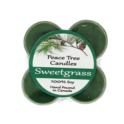 Sweetgrass Peace Tree Tealight Candle