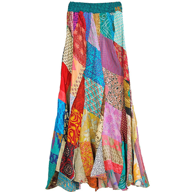 Back to Nature Sari Patch Skirt