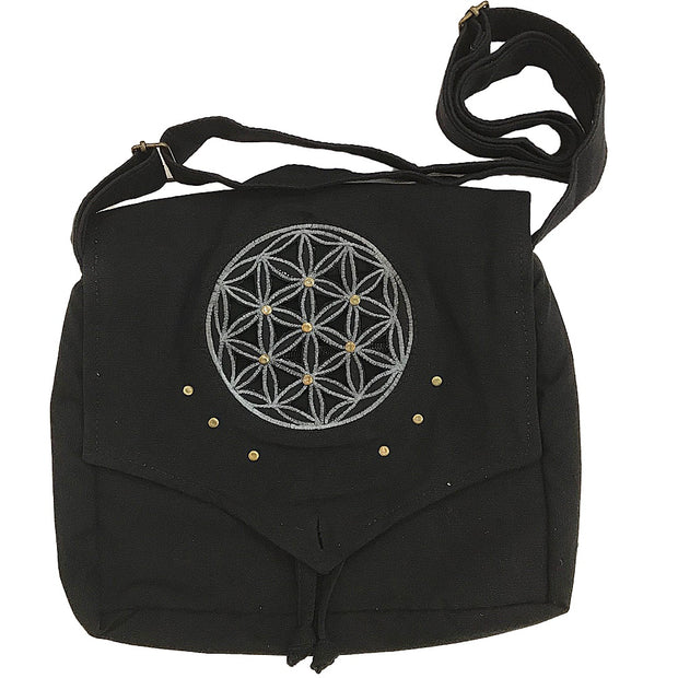 Black Galaxy Shoulder Purse