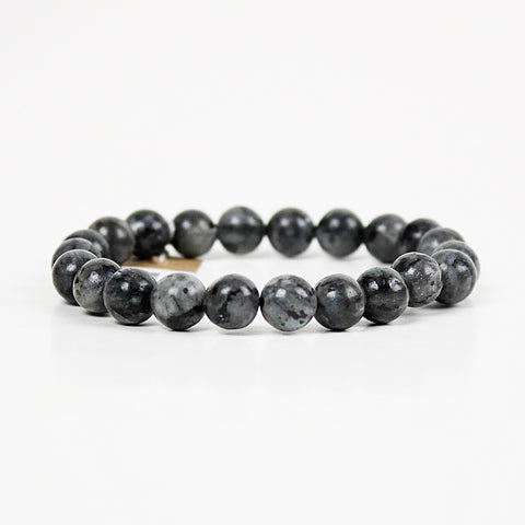 Exploration Larvikite 8mm Power Bracelet
