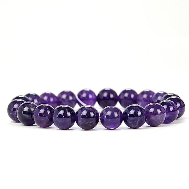 Intuitive Amethyst 8mm Power Bracelet