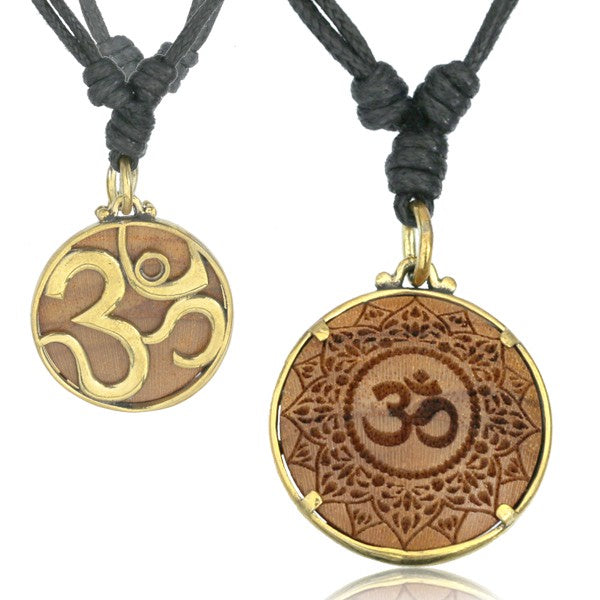 Wood & Brass AUM Necklace