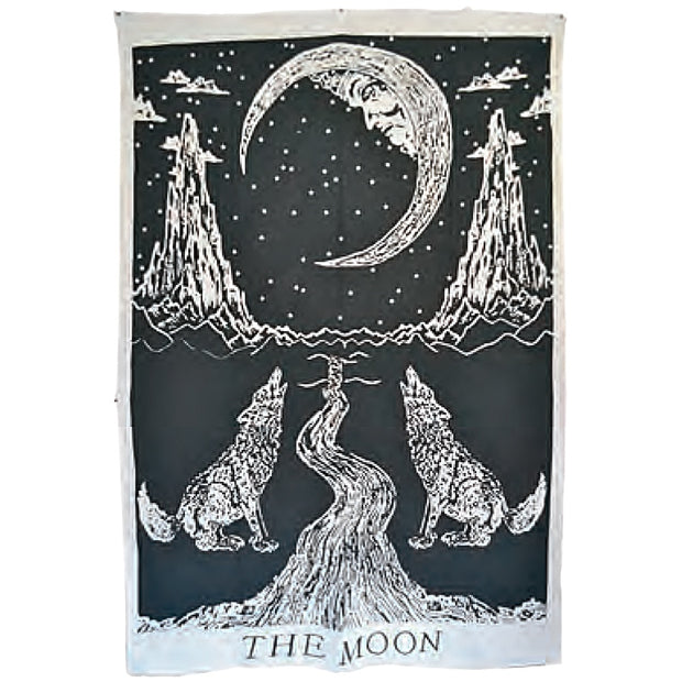 Moonlit Pathway Indian Bed Sheet