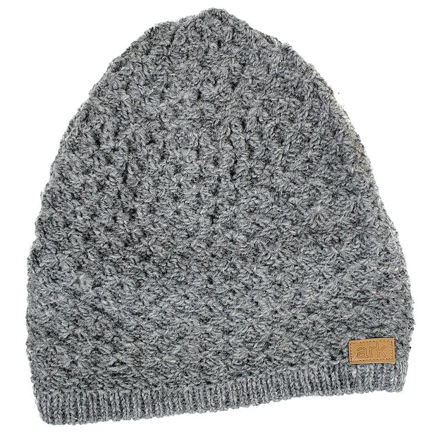 Grey Honeycomb Slouch Hat