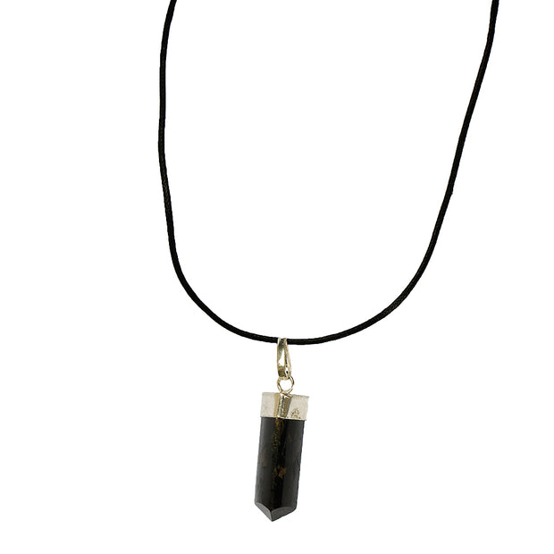 Black Tourmaline Point Pendant