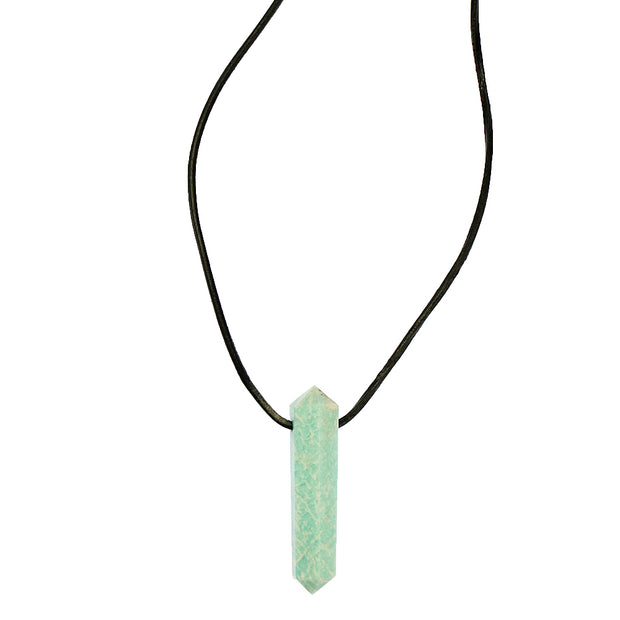 Doubled Pointed Polished Amazonite Pendant
