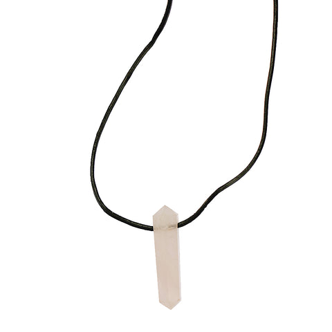 Rose Quartz Polished Double Pointed Pendant