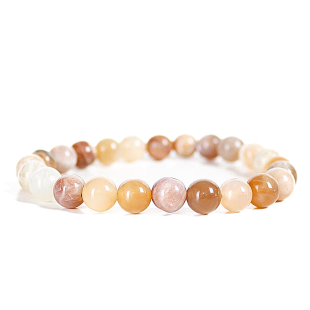 Soothing Multi Moonstone 8mm Power Bracelet