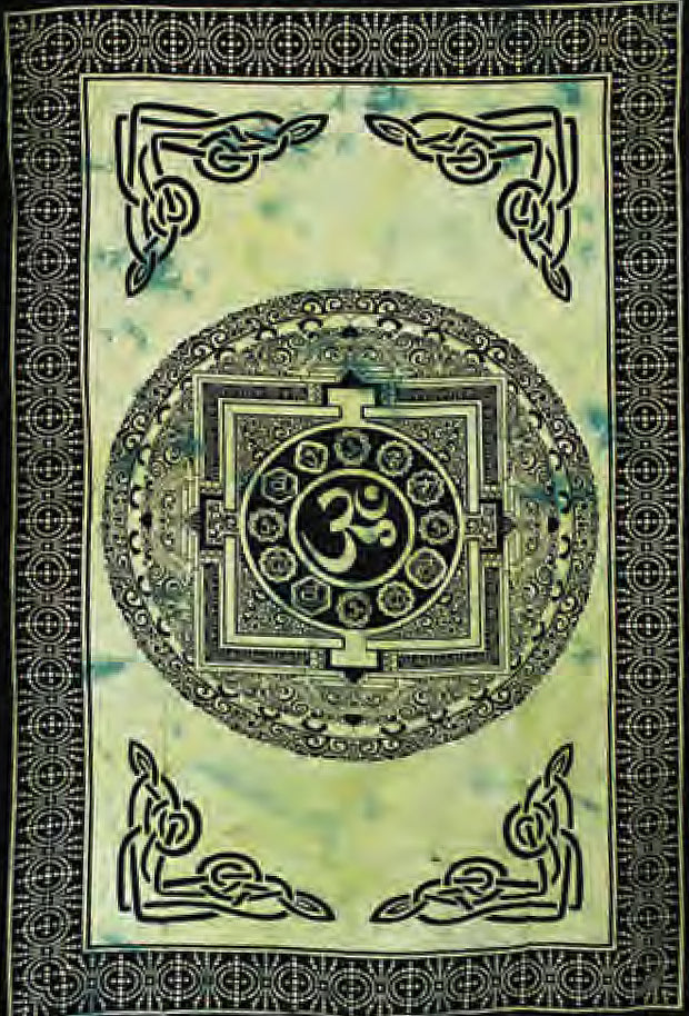 Celtic Knot Work & AUM Cotton Bed Sheet