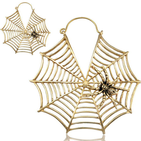 Charlotte's Web Brass Earrings