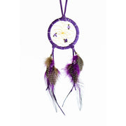 Gemstone & Purple Leather Dreamcatcher 2""
