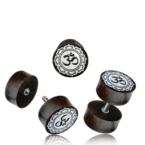 AUM Faux Plug Earrings