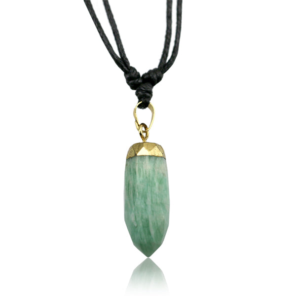 Amazonite Bullet Adjustable Necklace