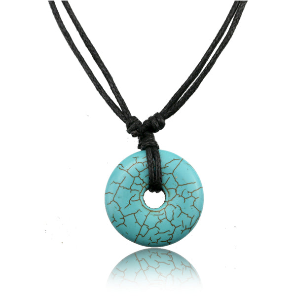 Turquoise Shield Adjustable Necklace