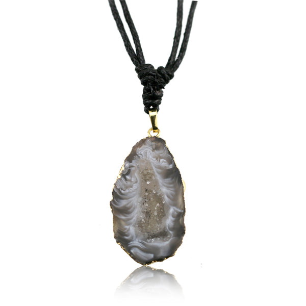 Agate Slice Adjustable Necklace