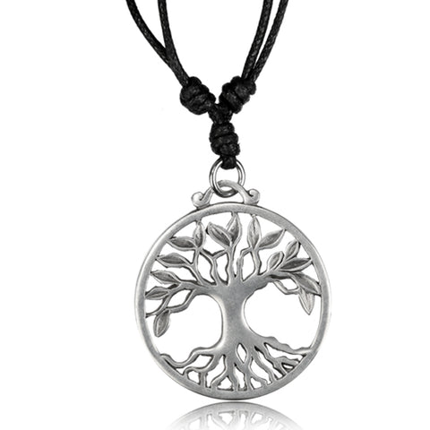 Tree of Life White Brass Pendant Necklace