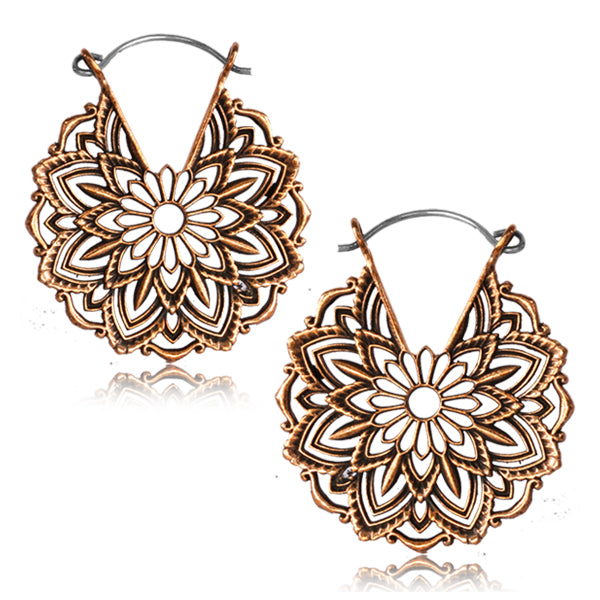 Flower Lace Copper Earrings