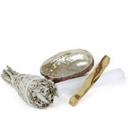 Abalone ~ Selenite ~ Palo Santo ~ Sage Smudge Kit