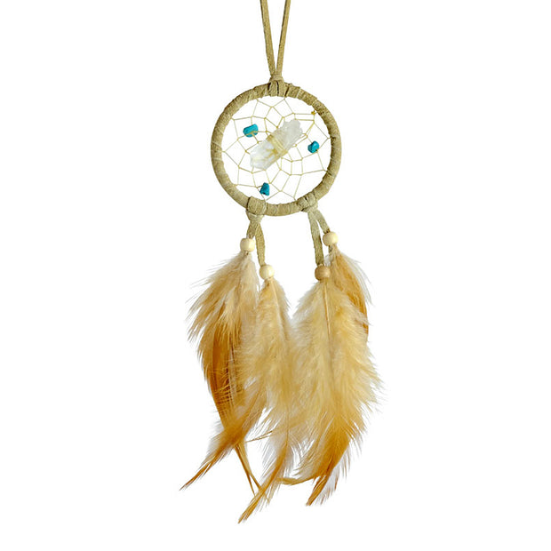 Gemstone Vision Seeker Tan Dreamcatcher 2""
