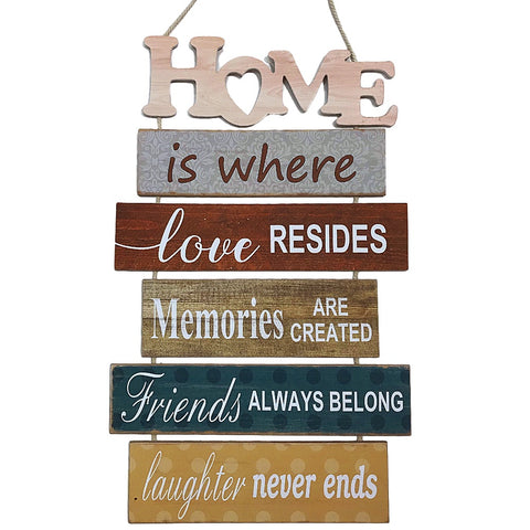 Home is Where Love Resides Wood Slat Sign