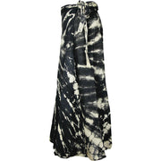 Black Alycia Maxi Wrap Skirt